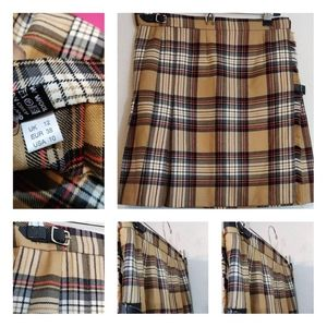 Vintage Authentic Wool Skirt Made in Scotland